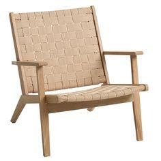 Nojatuoli VADEHAVET luonnonvärinen | JYSK Outdoor Chairs, Outdoor Furniture, Outdoor Decor, Door Steps, Cottage Homes, Solid Oak, Recliner, Armchair, Interior