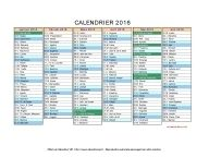calendrier 2016 et 2017 complet
