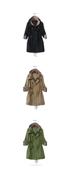 Hooded Drawstring-Waist Parka - PEPER | YESSTYLE