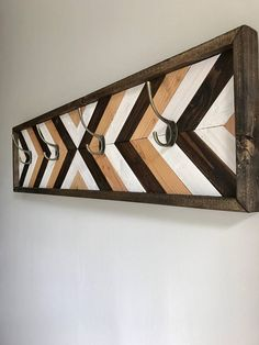 Looking For Amazing Online Woodworking Projects and Ideas ? Wood Wall Decor, Wooden Wall Art, Wooden Walls, Wood Art, Rustic Coat Rack, Wooden Coat Rack, Woodworking Patterns, Woodworking Projects Plans, Teds Woodworking