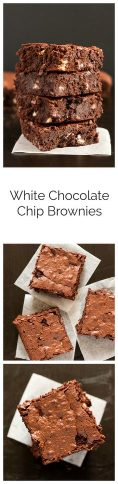 Deliciously fudgy chocolate brownies filled with white chocolate chips