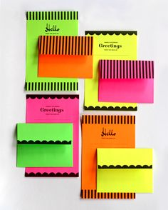Perfect for your brilliantly bright writing needs. DIY printable neon stationery set from How About Orange.