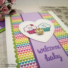 Cupcake Baby Card by Zsofia Molnar | Love Bites Stamp Set by Newton's Nook Designs #newtonsnook #handmade