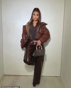 Looking good! Kim Kardashian took her mind off her marriage drama as she posted several stylish snaps to her Instagram account on Wednesday Moda Instagram, Kim Kardashian, Kanye West, Juicy Couture, Reality Shows, Kim And Kanye, Girl Fashion, Fashion Outfits, Jenner Style