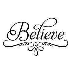 Believe decorative wall decal wall sticker wall by Decals4MyWalls, $10.95