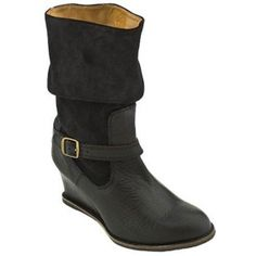 SALE - Womens J Shoes Irresistible Wedge Heels Black Leather - Was $194.00 - SAVE $55.00. BUY Now - ONLY $139.00.