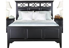 Cindy Crawford Home Seaside Black Panel 3 Pc Queen Bed $499.99