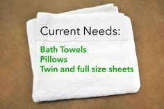 Please consider donating these items for our homeless families with children in Shreveport, LA.