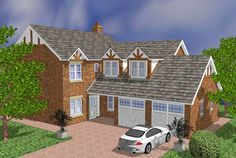 House Plans Uk, Types Of Houses, Sims 3, Tudor, Home And Family, Cabin, How To Plan, Mansions, House Styles