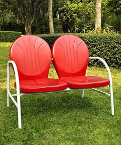 Red Griffith Love Seat by Crosley on #zulily