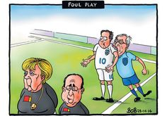 28 June 2014 - the Juncker saga continues, reference to Luis Suarez in the World Cup biting an Italian player.