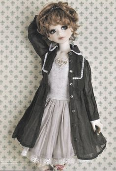 1/4 MSD BJD Unoa Doll Chic Bustier Dress, Shirt Dress, Socks & Hairband set pdf Scaled E PATTERN in Japanese and Template Titles in English
