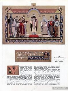 Ivanoff 1941 Anna Iaroslawna Russian Marriage Story 8 Pages Document Medieval Costumes