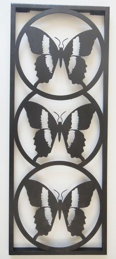 Metal Silhouettes | ... Metal Wall Art ›› Metal Wall Art Butterfly Silhouette Trio