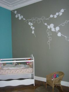 Bb d co on pinterest bebe bureaus and deco - Deco chambre turquoise gris ...