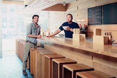 peter meehan and david chang at momofuku noodle bar (photo by ian baguskas for wsj. magazine)
