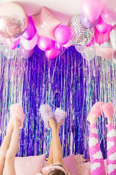 hotel party No Boys Allowed: A Holographic + Neon Slumber Party! Bachelorette Slumber Parties, Adult Slumber Party, Sleepover Birthday Parties, Birthday Party Themes, Girl Birthday, Slumber Party Ideas, Turtle Birthday, Turtle Party, Carnival Birthday