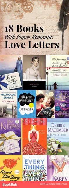 18 romantic books featuring love letters to add to your reading list. Including Jojo Moyes, Nicholas Sparks, Jane Austen, Debbie Macomber, and more!