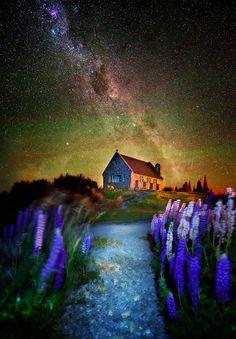 A Fairy Night (Church of Good Shepard, Lake Tepako, NZ) by Goff Kitsawad on 500px