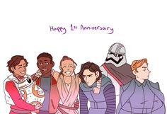 Today marks the one year anniversary for The Force Awakens by asprince on tumblr
