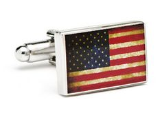 Cuff Link W/ Bullet Back Closure, Silver Plated