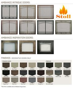 Get the best fireplace doors for your new gas fireplace by Ambiance. Designed by owners of fireplace stores, they wanted to include the best fireplace doors Glass Fireplace Screen, Metal Fireplace, Paint Fireplace, Custom Fireplace, Fireplace Screens, Home Fireplace, Fireplace Inserts, Modern Fireplace, Fireplace Design