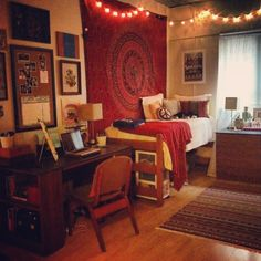 This is perfect. It's warm, inviting, clutter-free, and cozy.