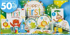 Sweet At One Boys 1st Birthday Party Supplies - Party City