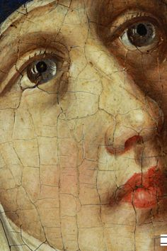 The Face of Maria (Detail) from the picture of Stefan Lochner (1410-1451) - The Last Jugement, 1435 Wallraf-Richartz Museum, Germany