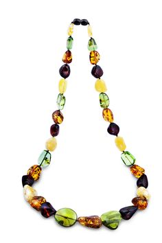 House of Amber - Amber necklace in mixed colours.