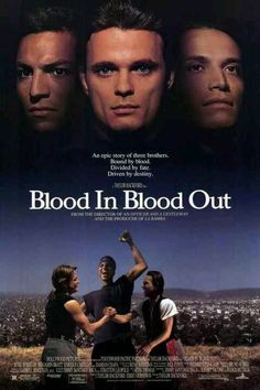Blood In.Blood Out: Bound by Honor Movie Poster 90s Movies, Great Movies, Movie Tv, Childhood Movies, Awesome Movies, Cinema Movies, Movie Theater, Benjamin Bratt, Chicano Movies