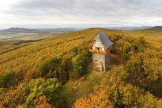 Buják, Hungary, Sas-Bérc kilátó #cabin #lodge #hut #forest #mountainhut #fall #tower #hungary