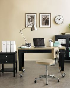 The Chase Collection - Desk, filing cabinets from the Martha Stewart Home Office line available