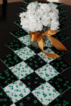 St. Patrick's Day Black and White Table by collectionsofcloth, $30.00
