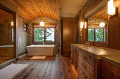 Full size of rustic bath decor bathrooms pictures ideas gold award winner private residence bathroom likable Rustic Bathroom Designs, Rustic Bathroom Decor, Rustic Bathrooms, Wood Bathroom, Bathroom Interior Design, Bathroom Styling, Bathroom Ideas, Nature Bathroom, Bath Decor
