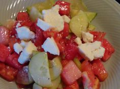 Watermelon Summer Salad | A light refreshing side dish for the heat of the summer!
