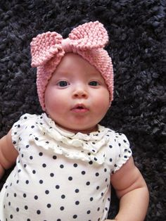 Baby Knitted Bow Ear Warmer Headband With by TheKnittingBOWtique