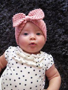 Baby Knitted Bow Ear Warmer Headband