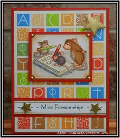 House Mouse Challenge No. 49 ~ Back to School – My Cardz ~ My Passion . . .