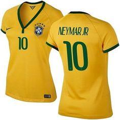 NIKE NEYMAR JR BRAZIL HOME WOMENS JERSEY COPA AMERICA 2015.