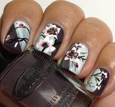 Flower Art Design #nails #nailart