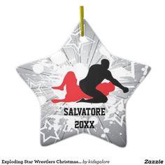 Wrestling Takedown Christmas Ornament Blown Glass Wrestler by ...