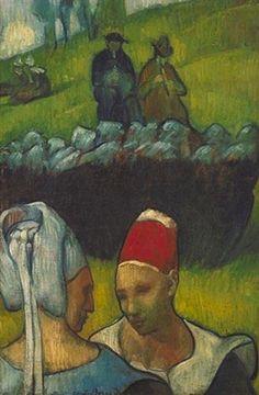 'Bretons' (1890) by French painter Emile Bernard (1868-1941). via wikiart
