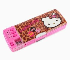 Hello Kitty Deluxe Pencil Case: Leopard