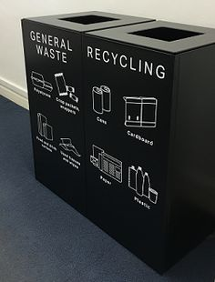Office Recycling Bins Sorted - home-office-design