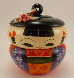 Vintage Kokeshi bento box