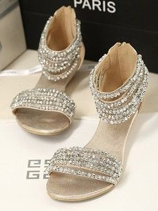 97008f5ae2c1 2013 Korean version of the the sweet beaded diamond chain super comfortable  flat with flat sandals shoes Roman shoes