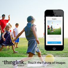 ThingLink - Media Sharing. Make your images completely interactive by adding links, videos, text, and more with your computer, smartphone, or tablet. Tip: Have students create a class museum where they create the art, digitally enhancing each image with information and links using Thinglink. Grades 6-12.