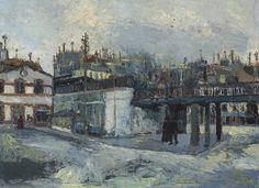 Maurice Utrillo (1883-1955) Le viaduc (Passage Gare du Nord), circa 1908