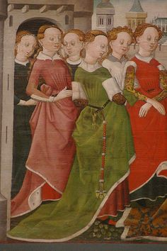 Cologne, c. 1455 – 1460: Legend of St Ursula; Baptism of the companions and embarkation of St Ursula with her entourage. Softwood, 54 x 89 - 248 cm. Collection of Ferdinand Franz Wallraf. WRM 0713. Photo: Rheinisches Bildarchiv Köln